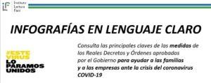 Infografías en lenguaje claro sobre las medidas del Gobierno ante la crisis del coronavirus